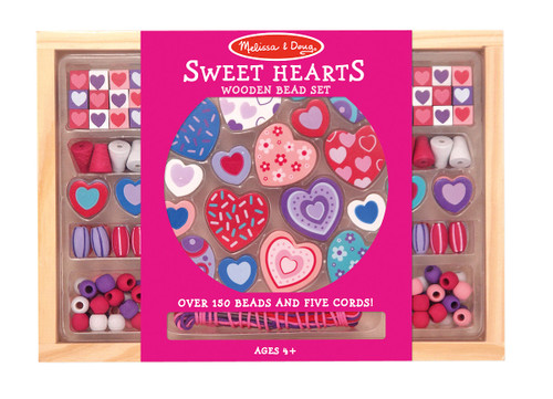 M&d sweet hearts bead set