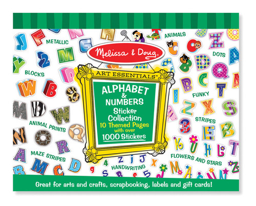 M&d sticker collection  alphabet & numbers