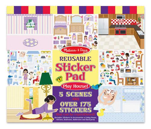 M&d  reusable sticker pad  play house