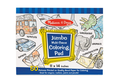 Melissa & Doug Jumbo Colouring Pad Blue