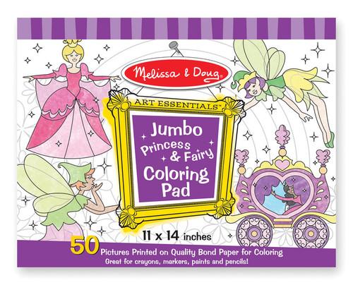 M&d  jumbo coloring pad  princess & fairy