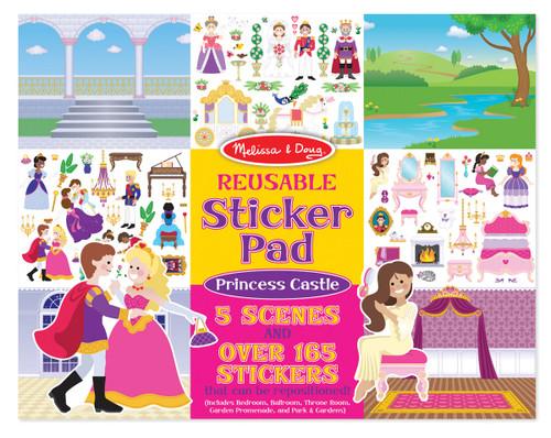M&d  reusable stickers  princess castle