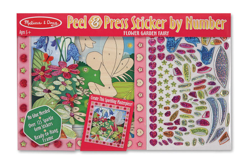 M&d peel & press sticker by number  flower fairy