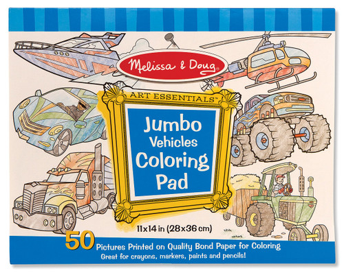 M&d  colouring pad  vehicles