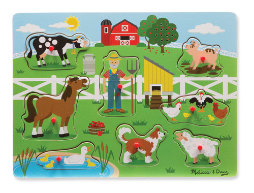 M&d - old macdonald farm sound puzzle - 8pc