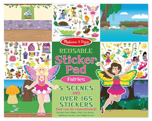 M&d - reusable sticker pad - fairies