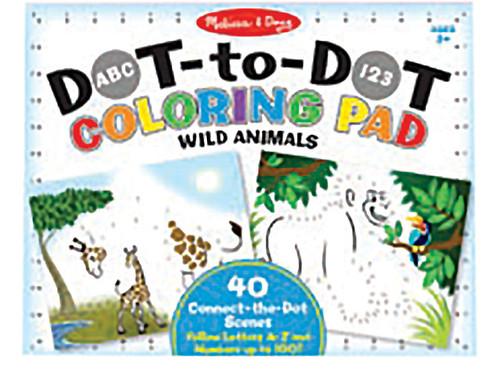 M&d abc 123 dot-dot colouring pad - animals