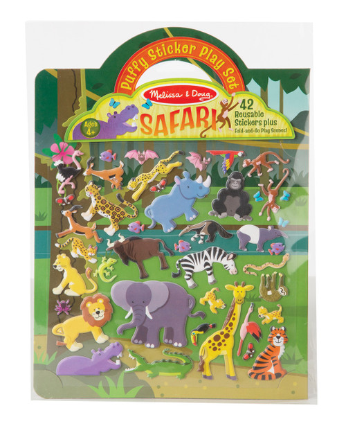 M&d reusable puffy sticker play set - safari