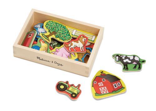 Melissa & Doug Magnetic Wooden Farm 20 piece