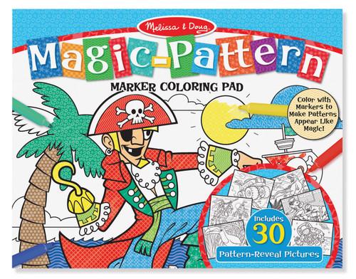 M&d magic pattern marker colouring pad - blue