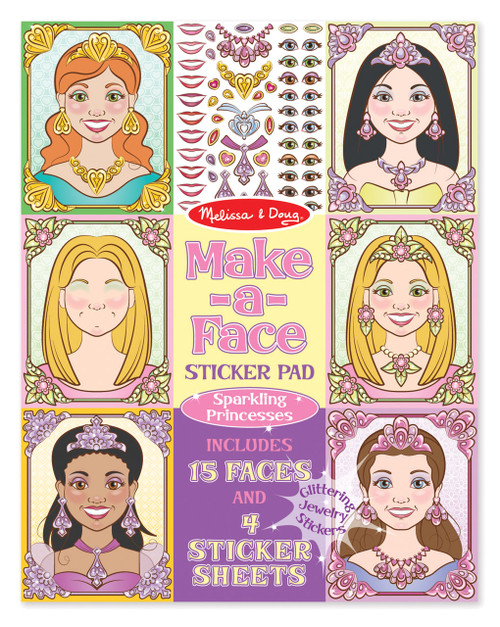 M&d make a face sparkling princesses