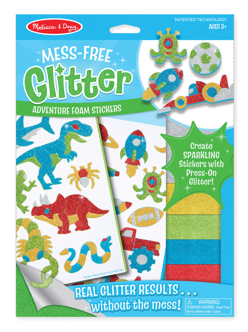 M&d mess free glitter adventure foam