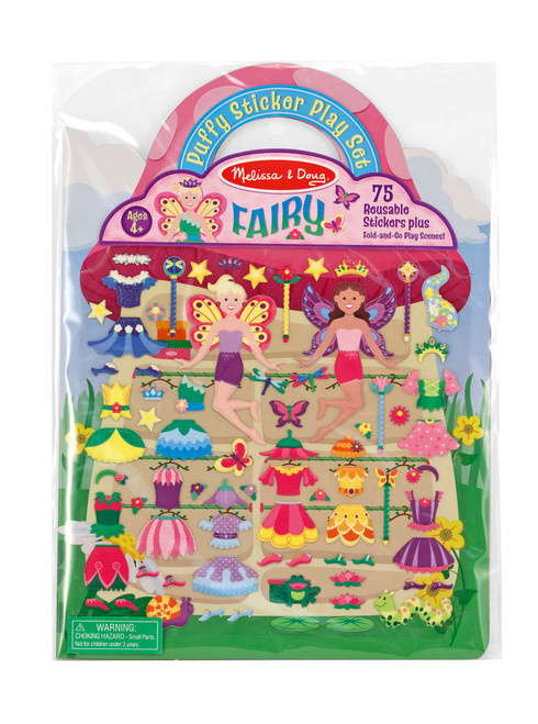M&d reusable puffy sticker play set - fairy