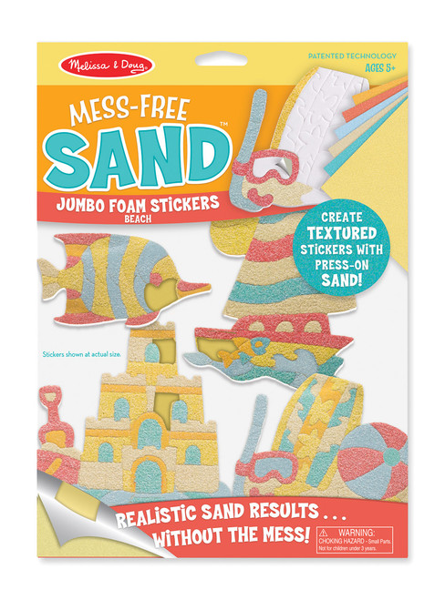 M&d - mess free sand jumbo foam stickers - beach