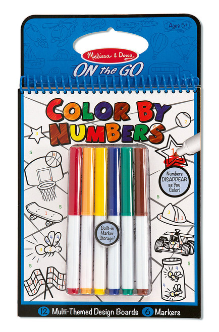 M&d on the go - color by numbers book - blue