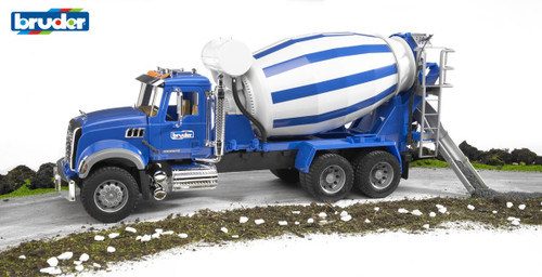 Bruder - 1:16 Mack Granite Cement Mixer