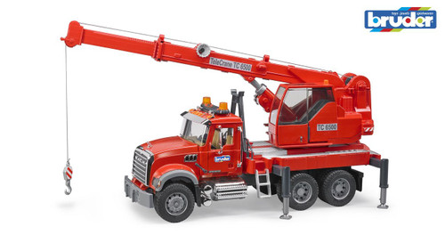 BRUDER - 1:16 MACK GRANITE CRANE TRUCK WITH L&S MODULE