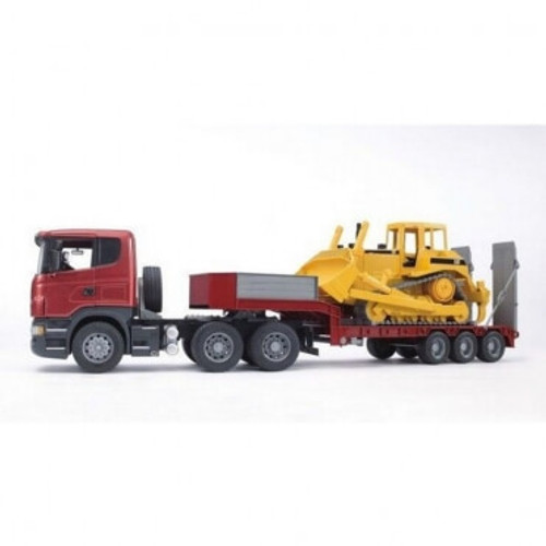 Bruder - Scania Low Loader Truck W/cat Bulldozer