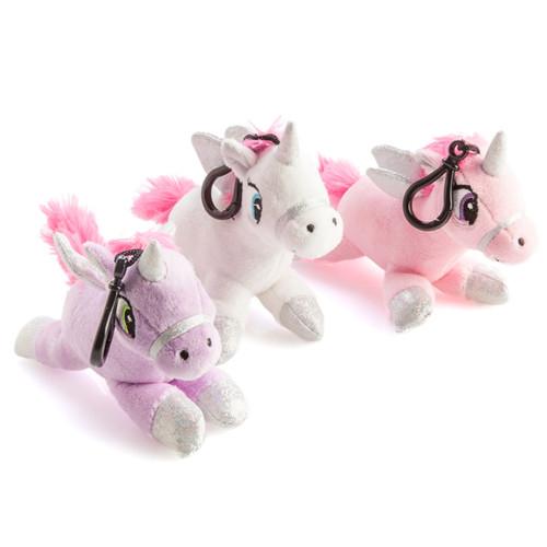 Plush unicorn keychain with sound