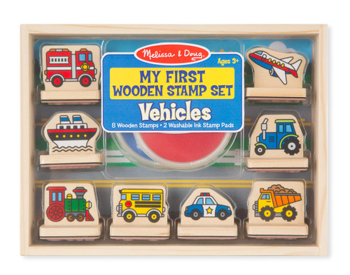 M&d my first wooden stamp set - vehicles