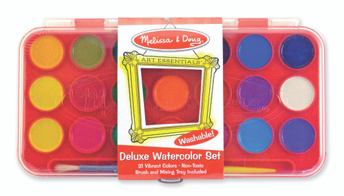 M&d deluxe watercolor paint set 21 colours