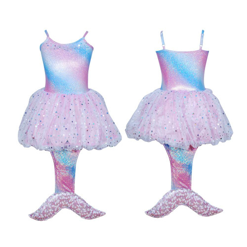 Mystic mermaid dress 3/4 pale pink