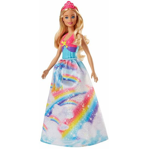 BARBIE PRINCESS DOLL - RAINBOWS DRESS