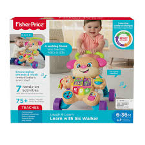 Fisher price laugh & learn baby walker - pink