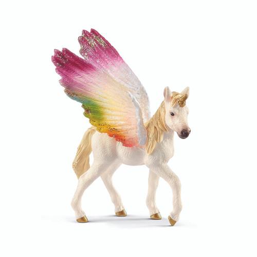 Schleich - winged rainbow unicorn foal