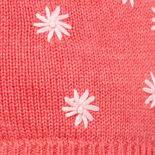 TOSHI BEANIE - ORGANIC EARMUFF FLOWER CHERRY XTRA SMALL