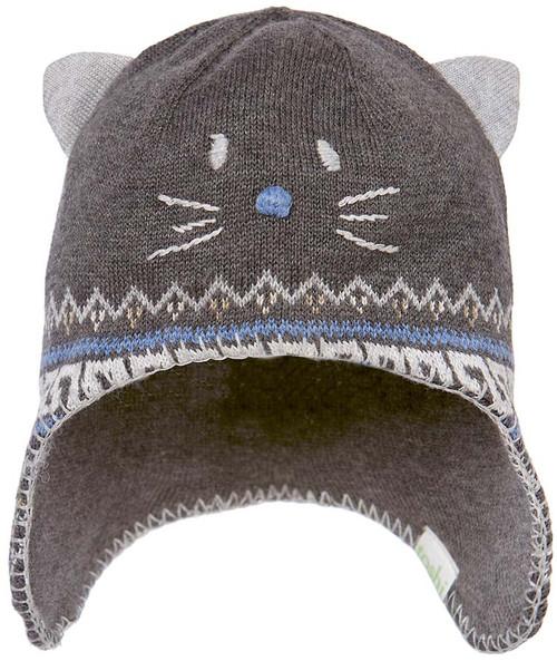 Toshi beanie - organic earmuff pussycat charcoal xs