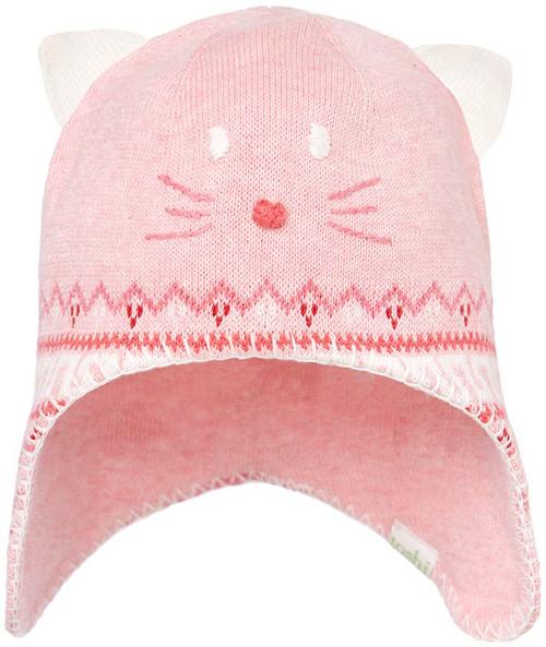 Toshi beanie - organic earmuff pussycat blush xtra small