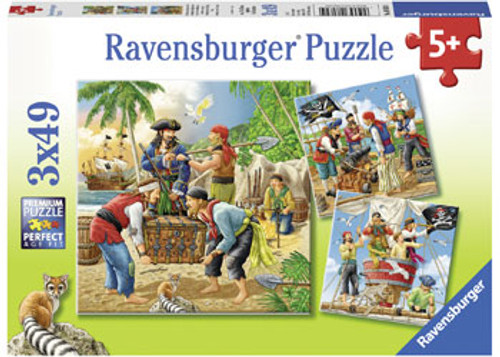 RAVENSBURGER - ADVENTURE OF THE HIGH SEAS PUZZLE 3 X 49 PCE