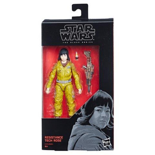 Sw E7 Black Series 6 Inch Figure - Resistance Tech Rose