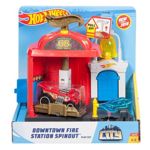 HOT WHEELS DOWNTOWN FIRE STATION SPINOUT
