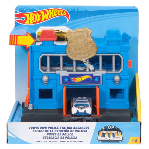 HOT WHEELS DOWNTOWN POLICE STATION BREAKOUT