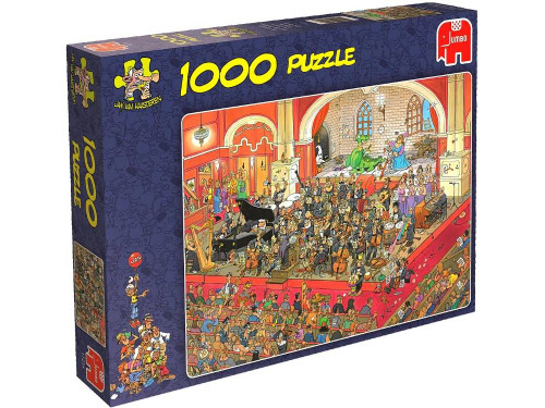 JVH THE OPERA 1000pc  The Opera. A brilliant interpretation of how crazy the Opera can be at times. Have fun piecing together this great comedy puzzle by Jan van Haasteren. A 1000 piece jigsaw puzzle made by Jumbo in the Netherlands. Puzzle measures 68 x 49 cm.