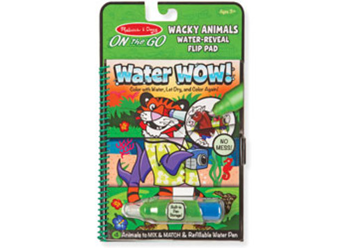 M&d on the go water wow! wacky animals