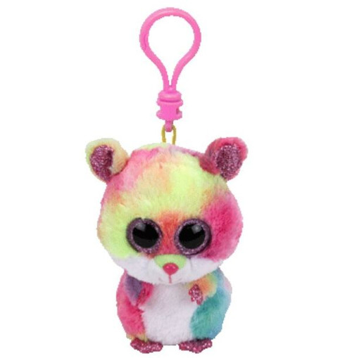 Beanie Boos Clip Ons Rodney The Coloured Hamster