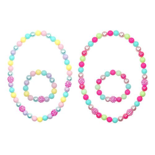 Sugar coated necklace & bracelet set
