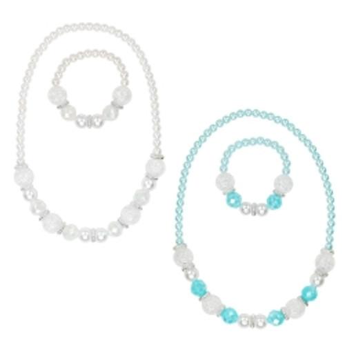 Snow princess necklace & bracelet set