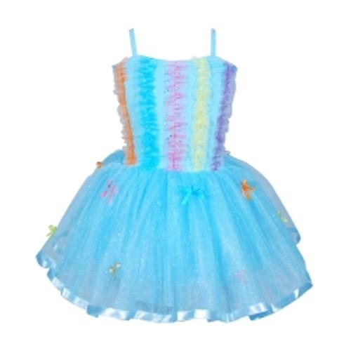 Ruffles & bows dress size 3/4 - blue