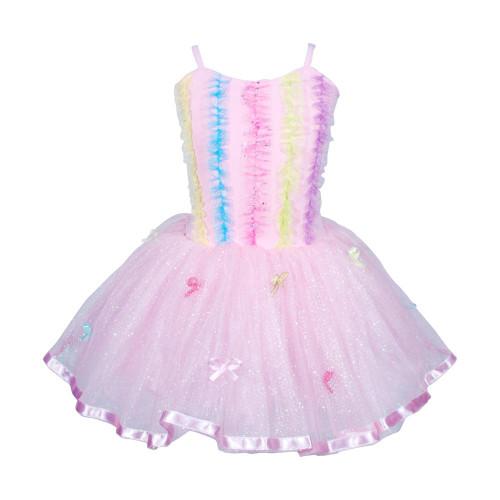 Ruffles & bows dress size 3/4 - pale pink