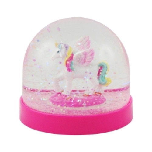 Unicorn acrylic snow globe