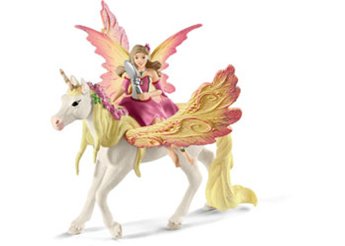SCHLEICH - FAIRY FEYA WITH PEGASUS UNICORN