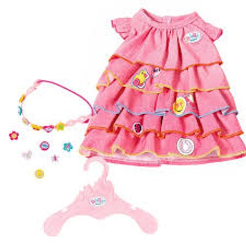 BABY BORN SUMMER DRESS SET WITH PINS