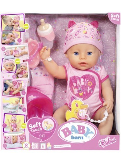 Baby Born Soft Touch Girl Blue Eyes 43cm