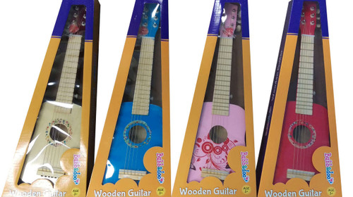 Bubbadoo Wooden Guitar - Red