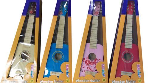 Bubbadoo Wooden Guitar - Pink