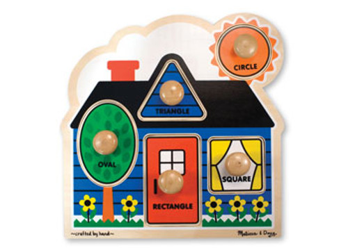 M&d - first shapes knob puzzle 5pce